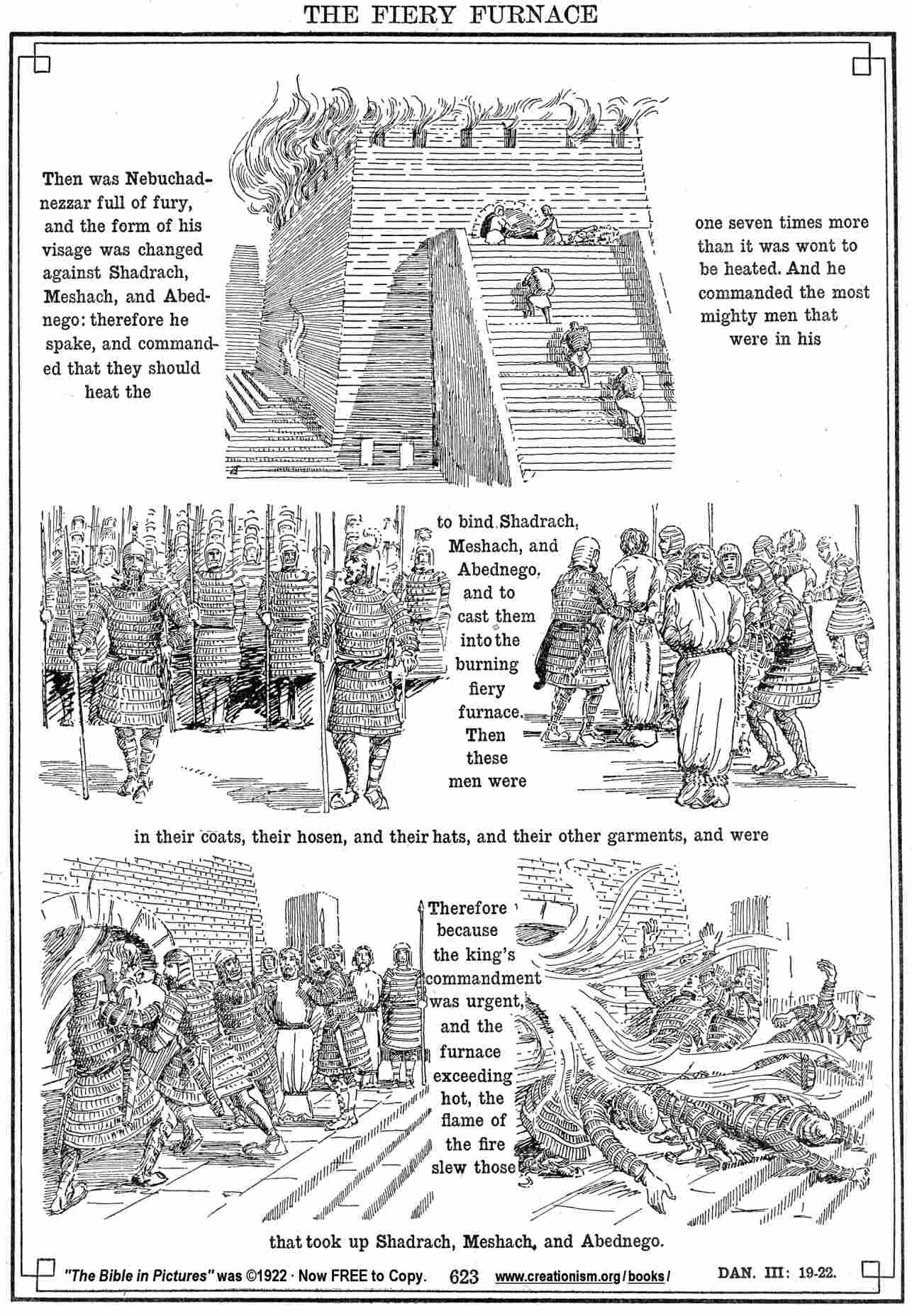 Continue here to read and understand daniel 3 19 30 a for Daniel and the fiery furnace coloring page